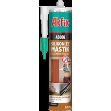 Akfix AS606 Silikonize Akrilik Mastik Beyaz 280ml 24'Lü