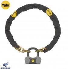 Yale Zincir Asma Kilitli Bisiklet Kilidi - Altın Serisi YCL3/10/180/1