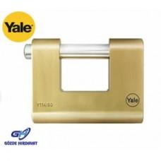 Yale Asma Kilit 60 mm Oval Kayar Pimli Pirinç