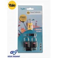Yale Seyahat Tipi Asma Kilit Hediyeli YPROMO-TSA2-COMBI1
