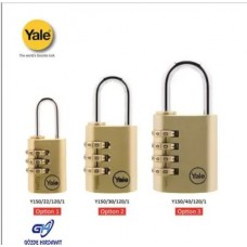 Yale Şifreli Asma Kilit Pirinç 30mm