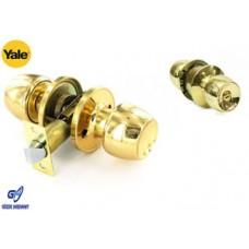 Yale Topuzlu Kilit Giriş - Oda Sarı (60 mm sabit) Anahtarsız
