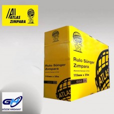 Atlas Rulo Sünger Zımpara 115 mm 25 MT