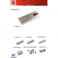 Kale Cam Kapı Aksesuar Seti Cam Detayli KD070/12-100
