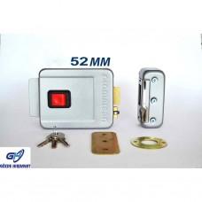 Otomatsan Gri 52mm Kapı Otomat Elektrikli Apartman Kapı Kilidi