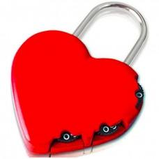 Yale 3 Şifreli Kırmızı Kalp Asma Kilit